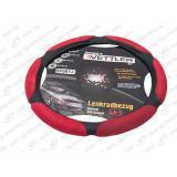 Оплётка руля Г-3302 винил (красный)  XL 41-42 см (6 подушек)