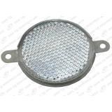 Световозвращатель круглый метал.корпус (белый)
